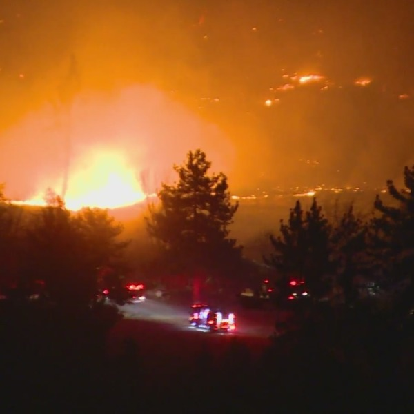 A brush fire burns in the San Jacinto Mountains on Jan. 15, 2021. (OnScene.TV)