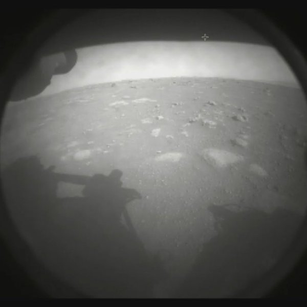The first image that first Perseverance shared of Mars was shared by NASA JPL on Feb. 18, 2021.