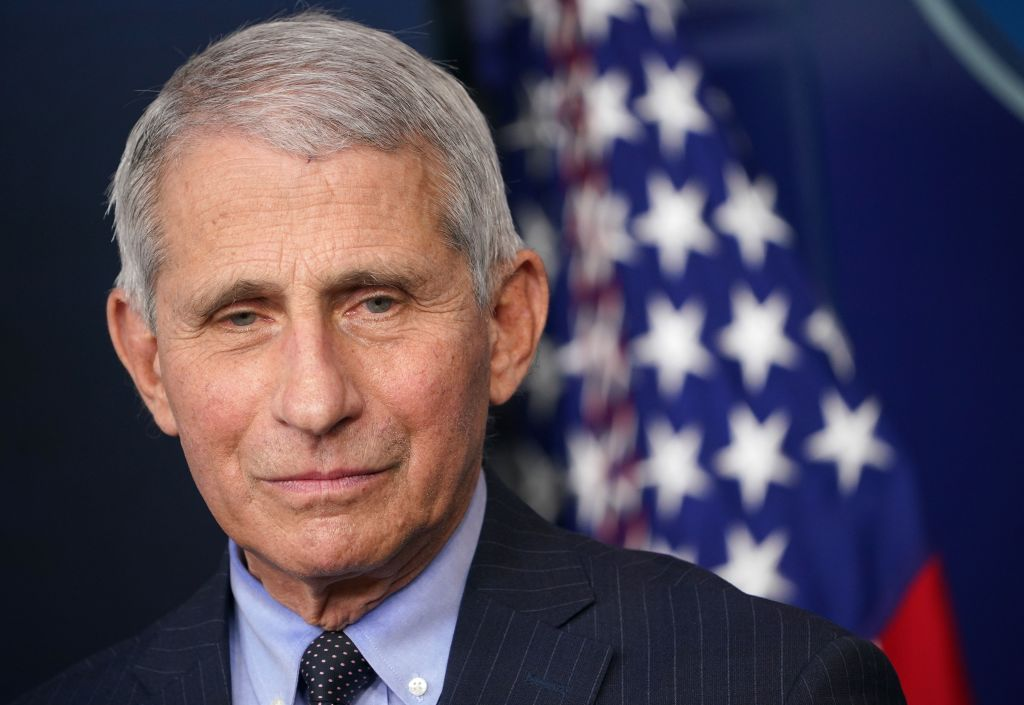 Director of the National Institute of Allergy and Infectious Diseases Anthony Fauci looks on during the daily briefing in the Brady Briefing Room of the White House in Washington, D.C. on Jan. 21, 2021. (MANDEL NGAN/AFP via Getty Images)