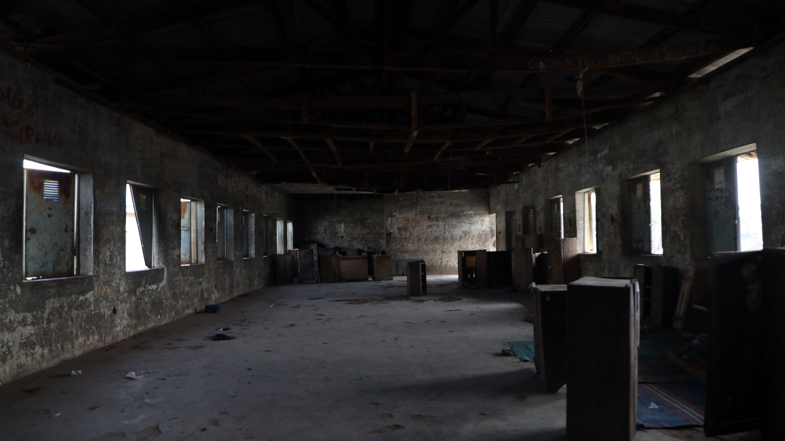 An empty dormitory inside Government Science College where gunmen kidnapped dozens of students and staffs, in Kagara, Rafi Local Government Niger State, Nigeria on Feb. 18, 2021. (Kola Sulaimon / AFP via Getty Images)