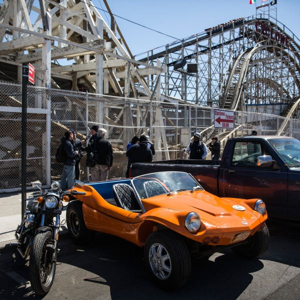 A dune buggy sits parked at Coney Island on March 29, 2015 in New York City. (Andrew Burton/Getty Images)