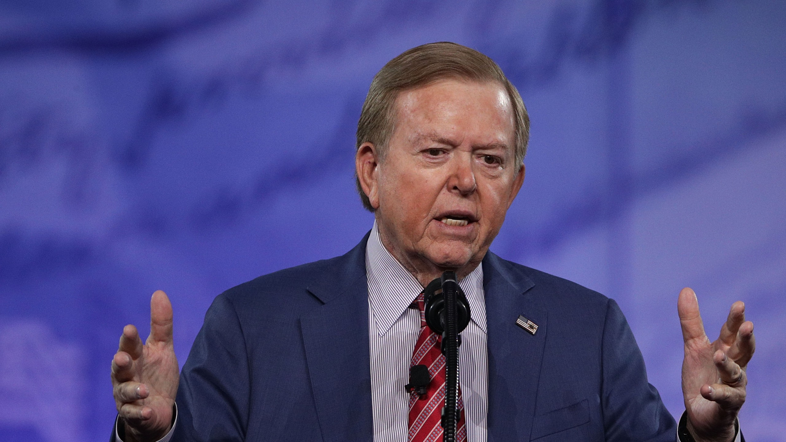 Lou Dobbs of Fox Business Network speaks during the Conservative Political Action Conference at the Gaylord National Resort and Convention Center in National Harbor, Maryland on Feb. 24, 2017. (Alex Wong/Getty Images)