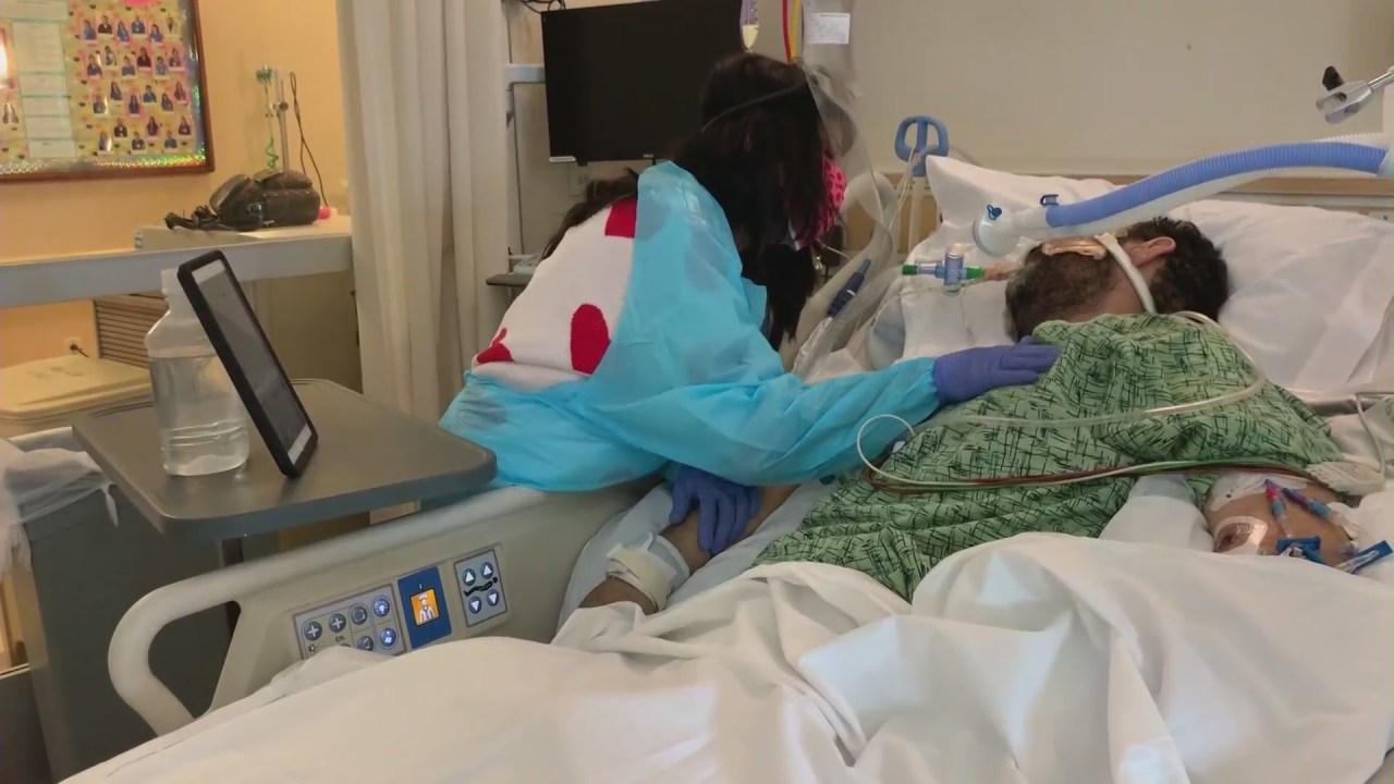 Wife sets up mariachi serenade for husband battling COVID-19 on ventilator at Fullerton hospital - KTLA Los Angeles