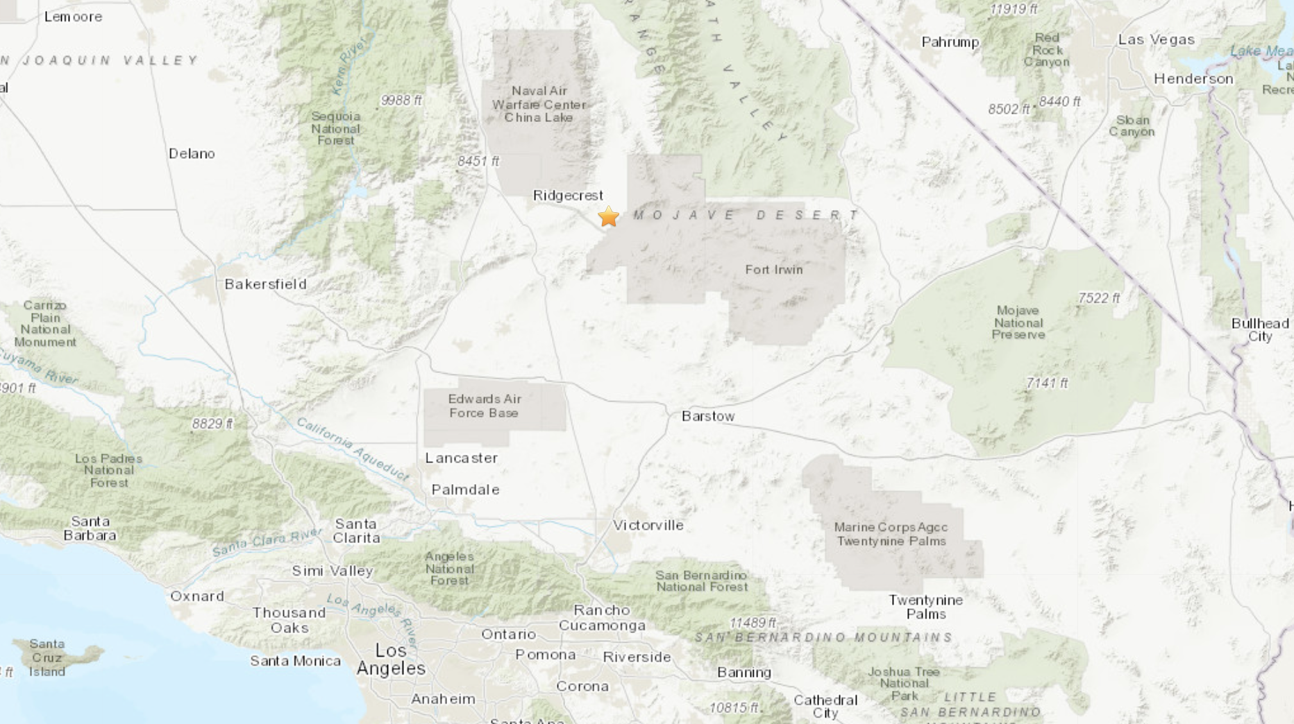 A magnitude 4.0 earthquake rattled the Mojave Desert in Southern California on Feb. 12, 2021, according to the U.S. Geological Survey.