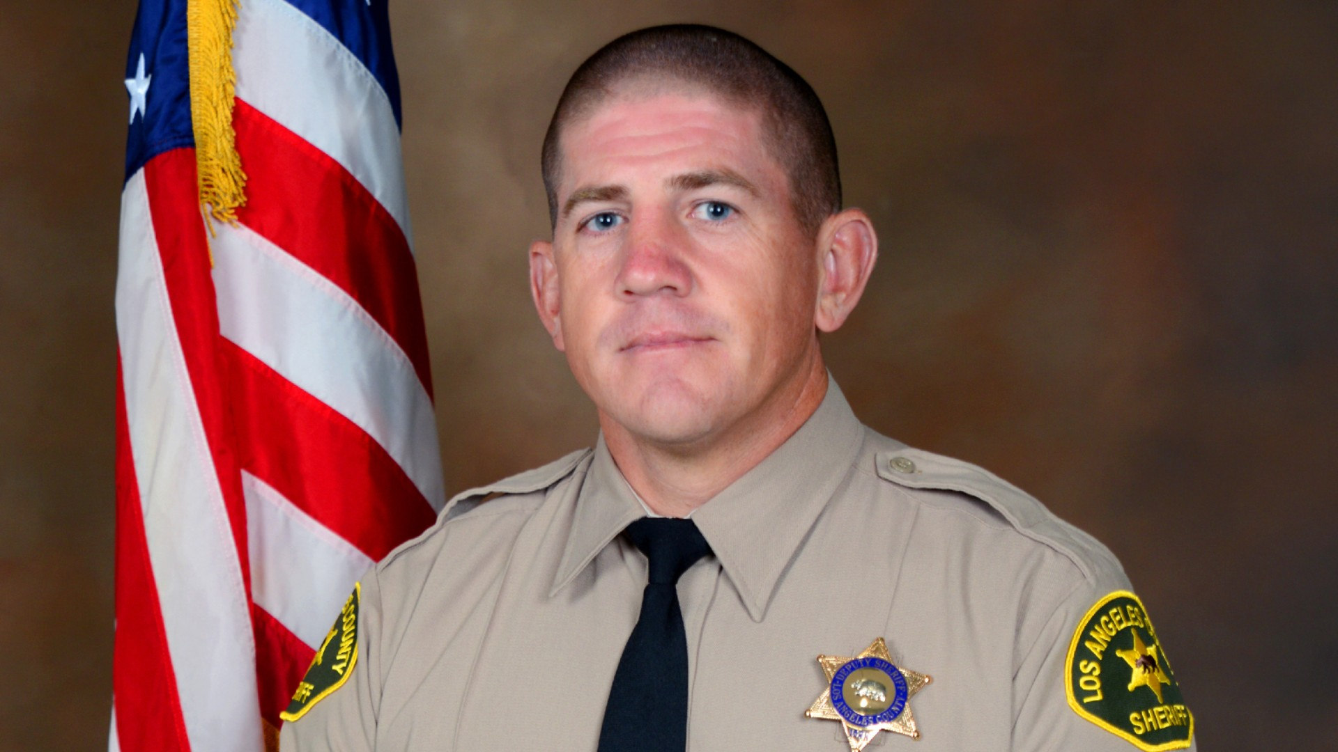 Deputy Thomas Albanese is seen in a photo released by the L.A. County Sheriff's Department.