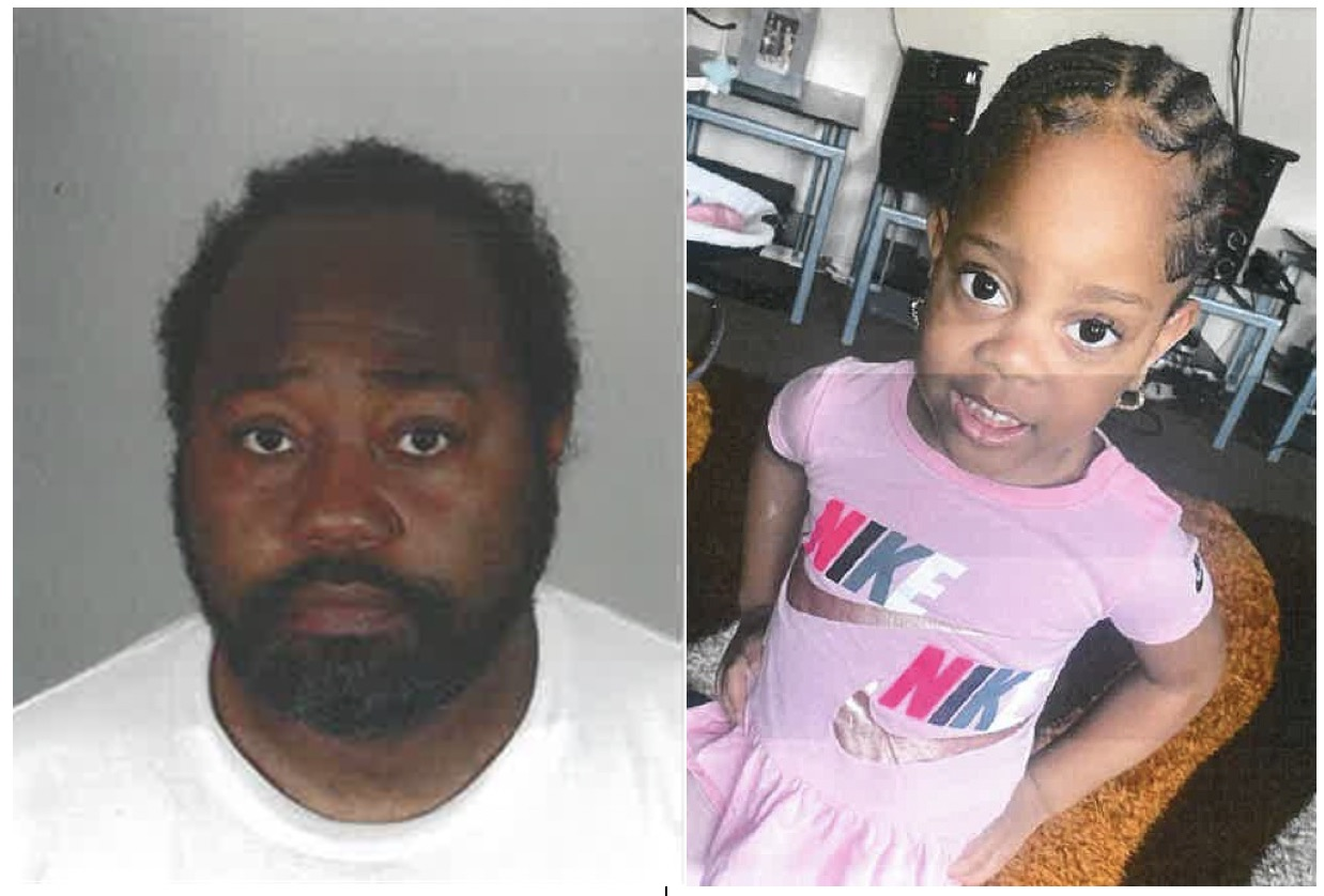 The Los Angeles Police Department's Southeast Division and the Department of Children and Family Services is asking for the public's help finding 3-year-old Nevaeh Wisner (left) and her biological father Freddie Lee Wisner Jr. (LAPD)