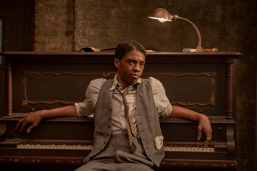 "Chadwick Boseman plays Levee in the 2020 Netflix film ""Ma Rainey's Black Bottom."" (David Lee/Netflix via Los Angeles Times)"