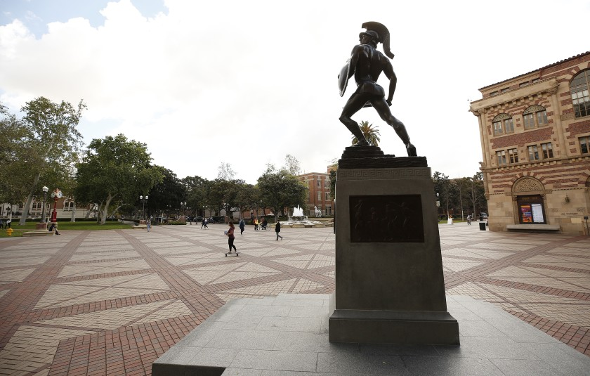 An undated photo of USC. (Al Seib / Los Angeles Times)