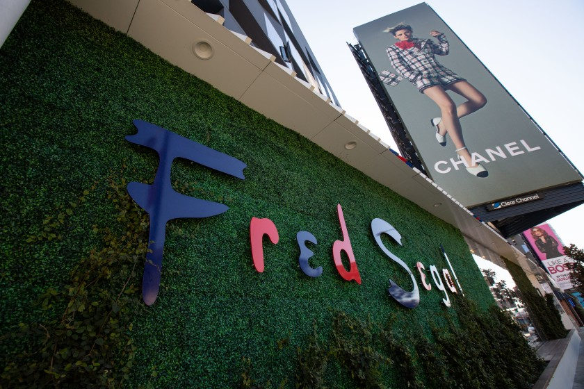 A Fred Segal storefront in Los Angeles.(Jason Armond / Los Angeles Times)