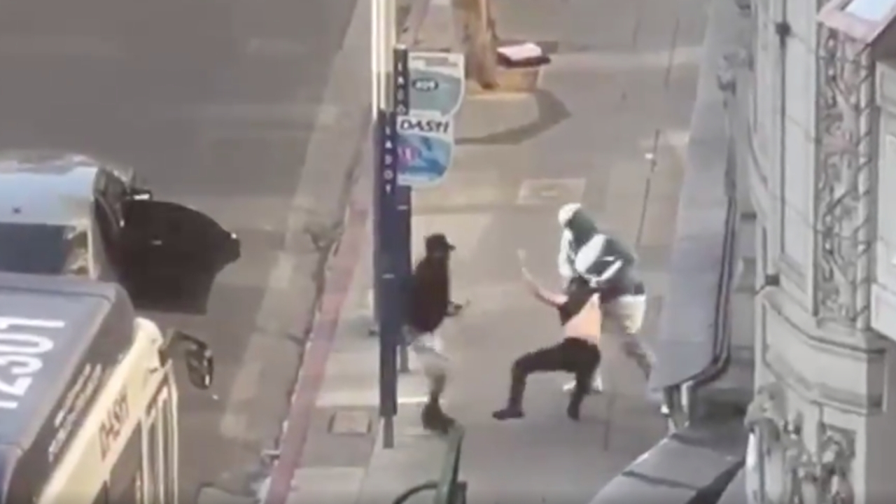 LAPD: 4 sought in caught-on-video robbery of man shot, pistol-whipped while shopping with toddler in DTLA