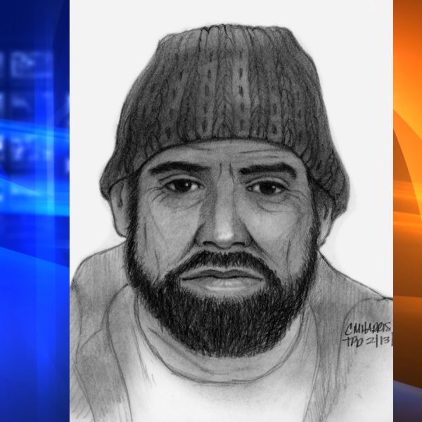 The Torrance Police Department released this sketch on Feb. 15, 2021, of a man who committed a lewd act against a juvenile in Manhattan Beach.