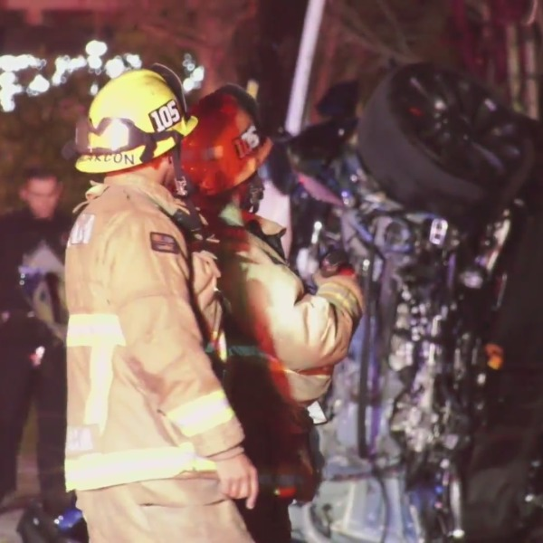 Emergency crews respond to a deadly crash in Arcadia on Feb. 21, 2021. (OnScene.TV)