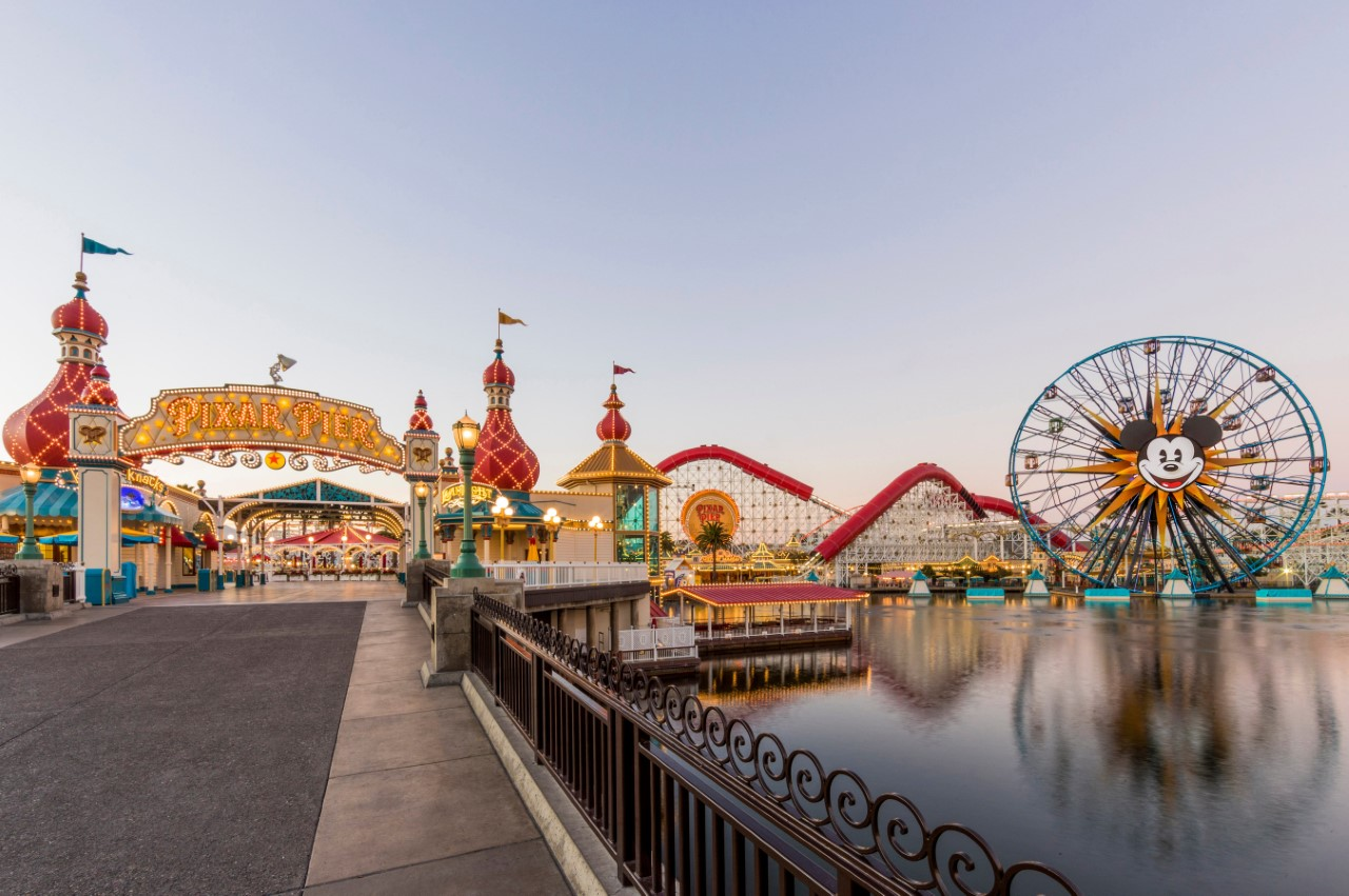 California Adventure's Pixar Pier is an image released by the Disneyland Resort.