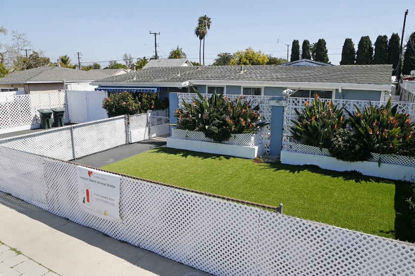 The proposed location of a new, public animal shelter for Newport Beach at 20282 Riverside Drive is seen in an undated photo. (Kevin Chang / Times Community News via L.A. Times)
