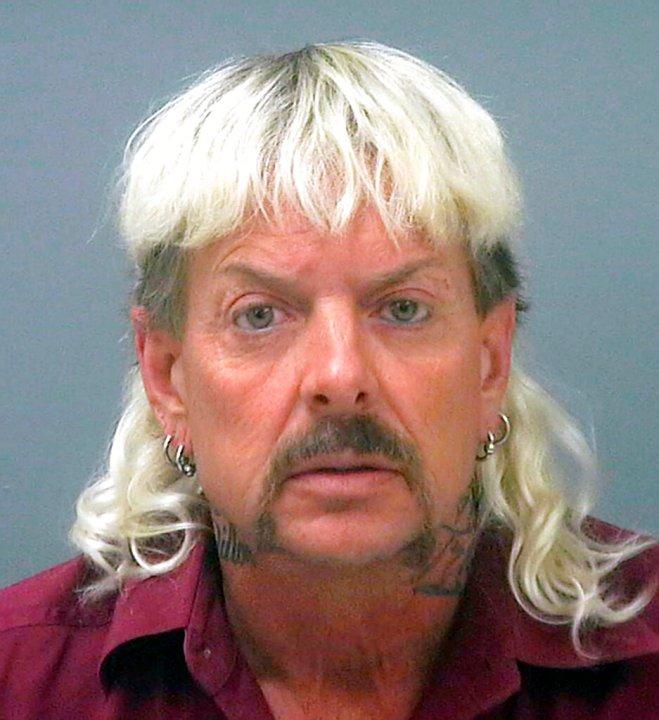 This undated file photo provided by the Santa Rose County Jail in Milton, Fla., shows Joseph Maldonado-Passage, also known as Joe Exotic. (Santa Rosa County Jail via AP, File)