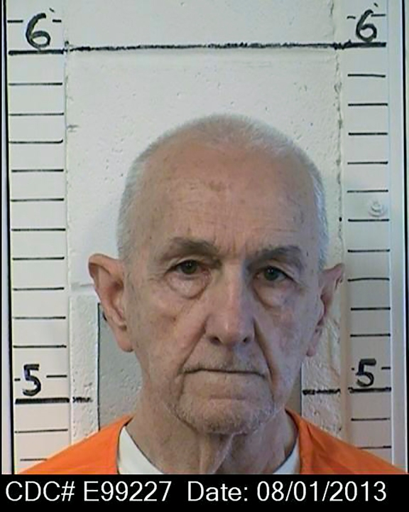 This Aug. 1, 2013, photo provided by the California Department of Correction and Rehabilitation shows inmate Roger Reece Kibbe, 81.