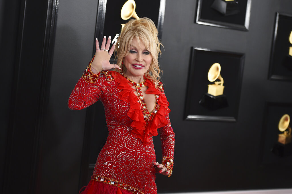 Dolly Parton arrives at the 61st annual Grammy Awards on Feb. 10, 2019, in Los Angeles. (Jordan Strauss/Invision/AP, File)