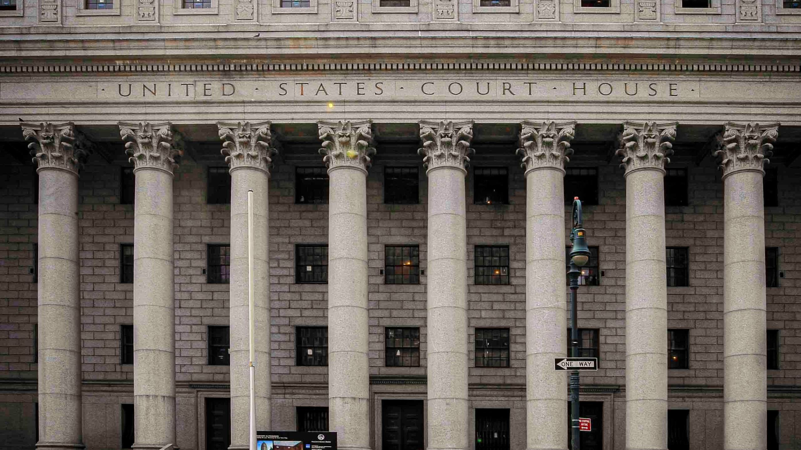 This photo from Tuesday May 3, 2011, shows the Thurgood Marshall U.S. Courthouse in Manhattan, N.Y., where the Second Circuit Court of Appeals is seated. (AP Photo/Mary Altaffer, File)