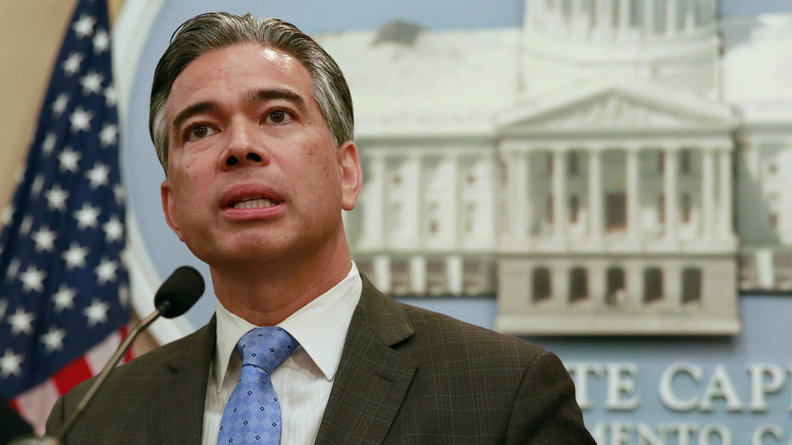 In this Jan. 9, 2018, file photo, Assemblyman Rob Bonta, D-Oakland, speaks during a news conference in Sacramento, Calif. (AP Photo/Rich Pedroncelli, File)