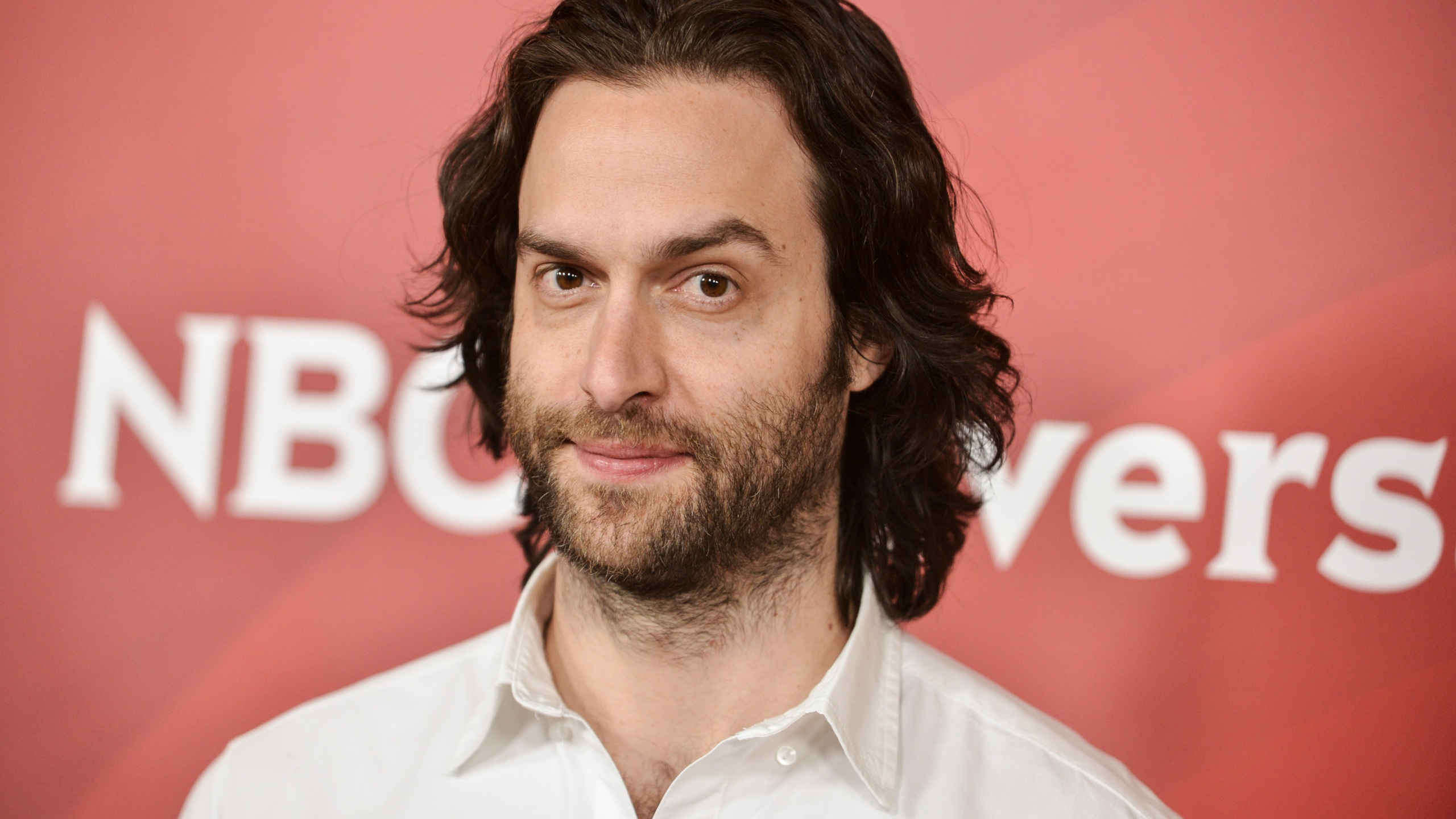 Chris D'Elia arrives at the NBC Universal Summer Press Day in Pasadena on April 8, 2014. (Richard Shotwell / Invision / Associated Press)