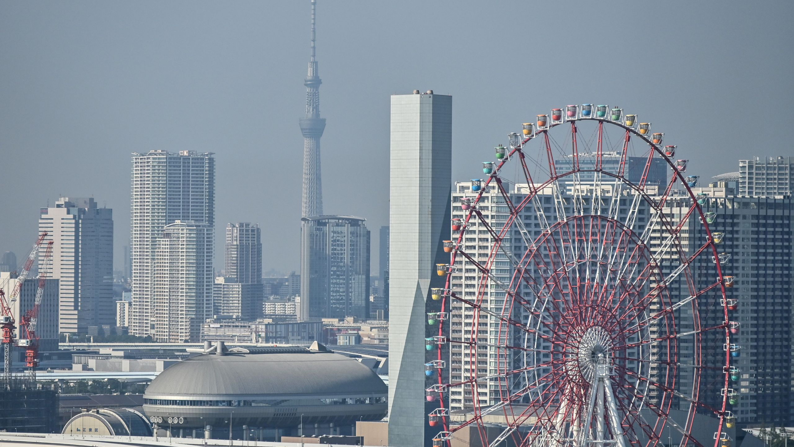 A general view shows the city skyline in Tokyo on August 17, 2020. (CHARLY TRIBALLEAU/AFP via Getty Images)