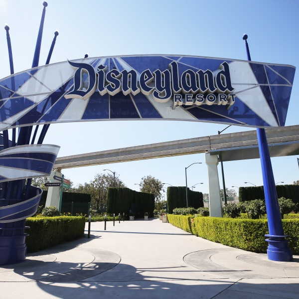 An entrance area to Disneyland stands empty on Sept. 30, 2020 in Anaheim. (Mario Tama/Getty Images)