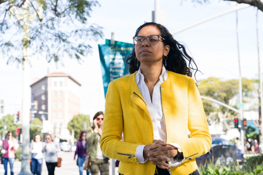 Assemblywoman Sydney Kamlager is seen in an undated photo from her state Senate campaign website.