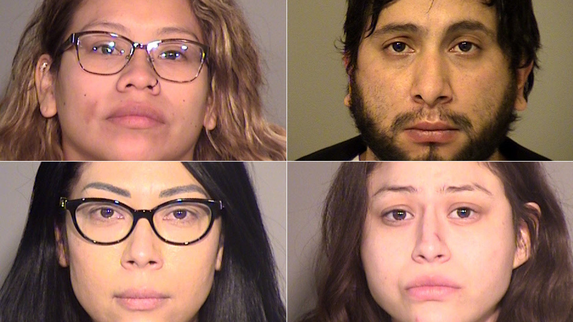 (Top left to right) Flor De Maria Evora, Jaime Vasquez, Olga Paredes and Olga Ramirez are shown in photos released by the Ventura County Sheriff's Office on March 4, 2021.