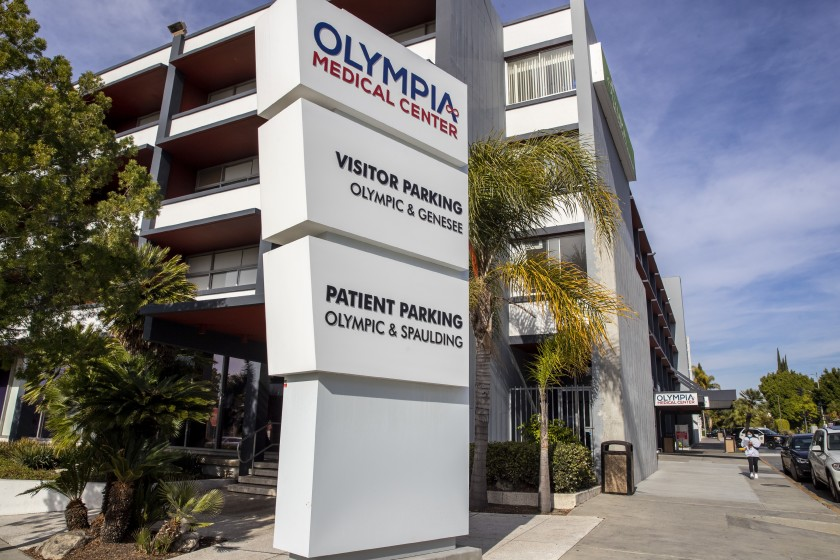 Olympia Medical Center, which has served the Mid-Wilshire area since 1947, is slated to close March 31. (Brian van der Brug / Los Angeles Times)