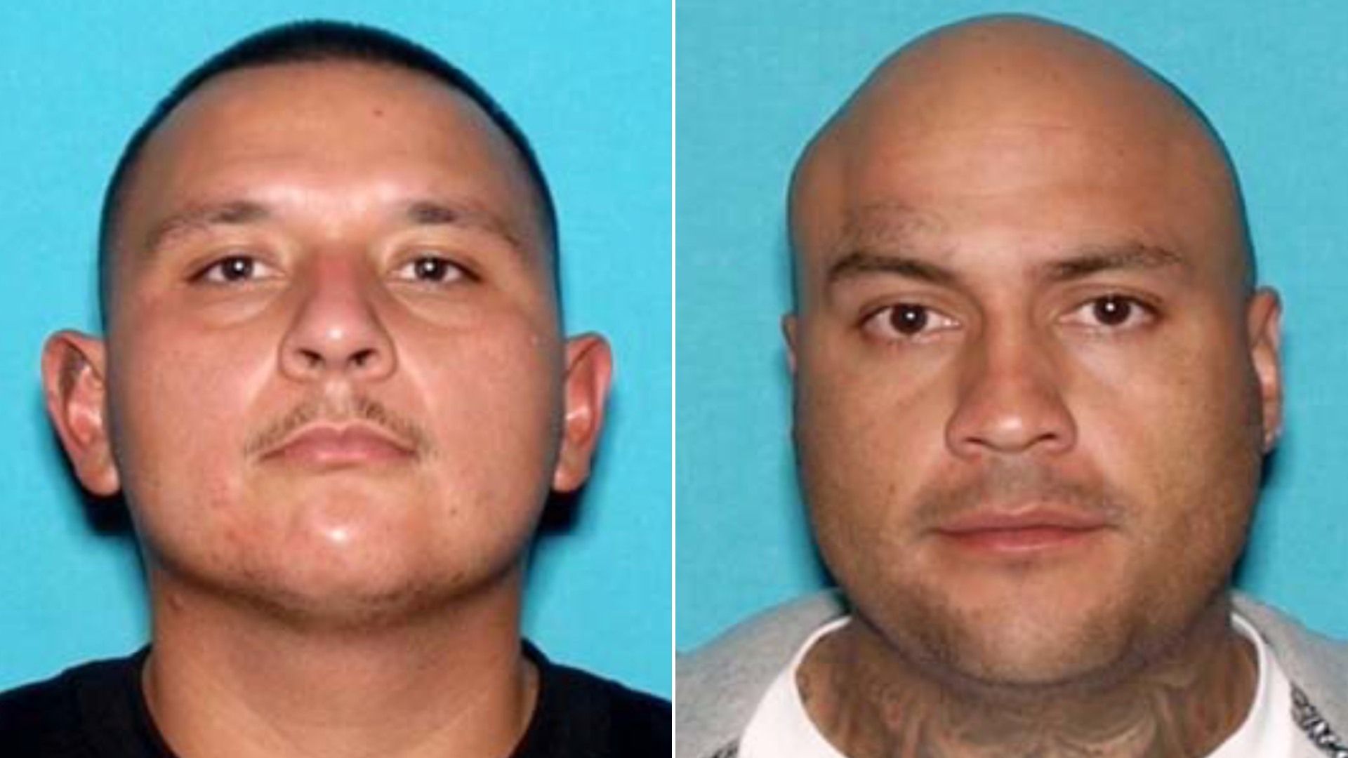 Joseph Mendoza, left, and Sal Fernandez are seen in undated photos released March 16, 2021, by the Garden Grove Police Department.