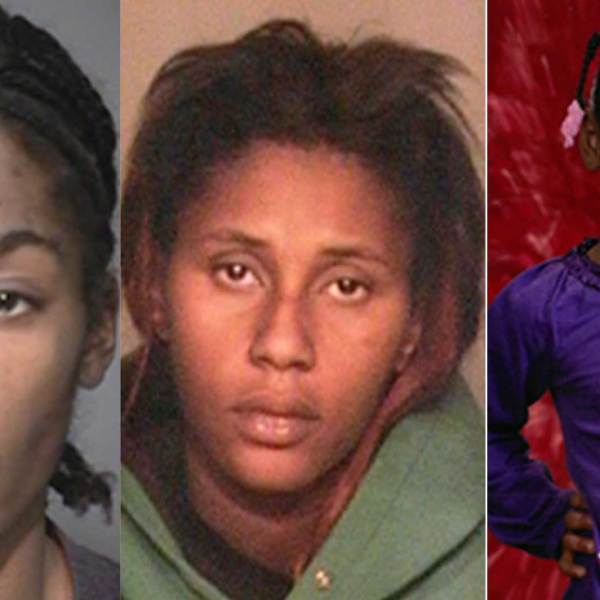 Ronald Greer (L) Bianca Stanch (C) and Samiah Downing (R) are seen in undated photos released by the San Bernardino County District Attorney's Office on March 17, 2021.