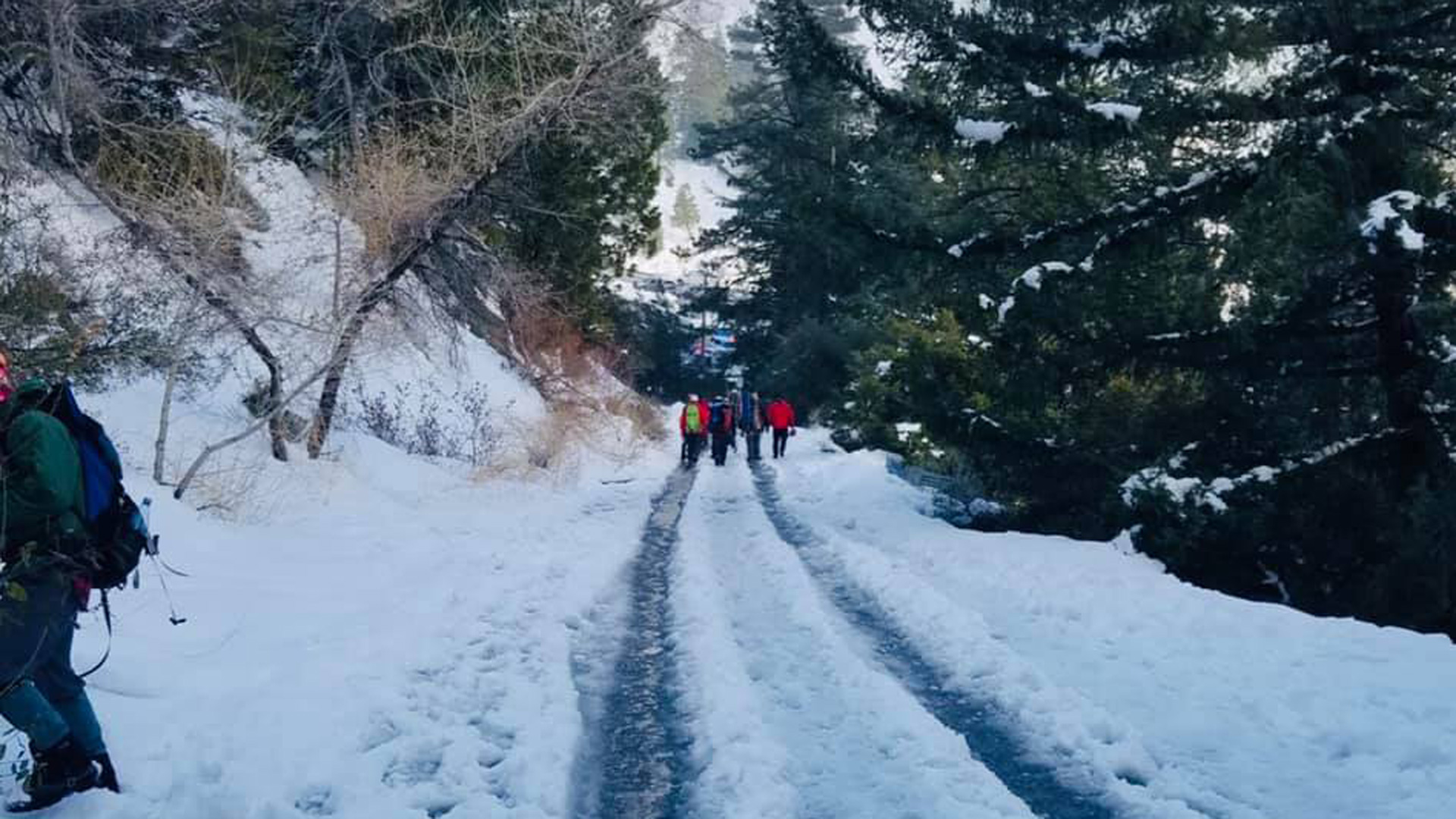 A hiker was injured and had to be rescued by emergency crews after an avalanche on Mt. Baldy on March 13, 2021. (West Valley Search and Rescue)
