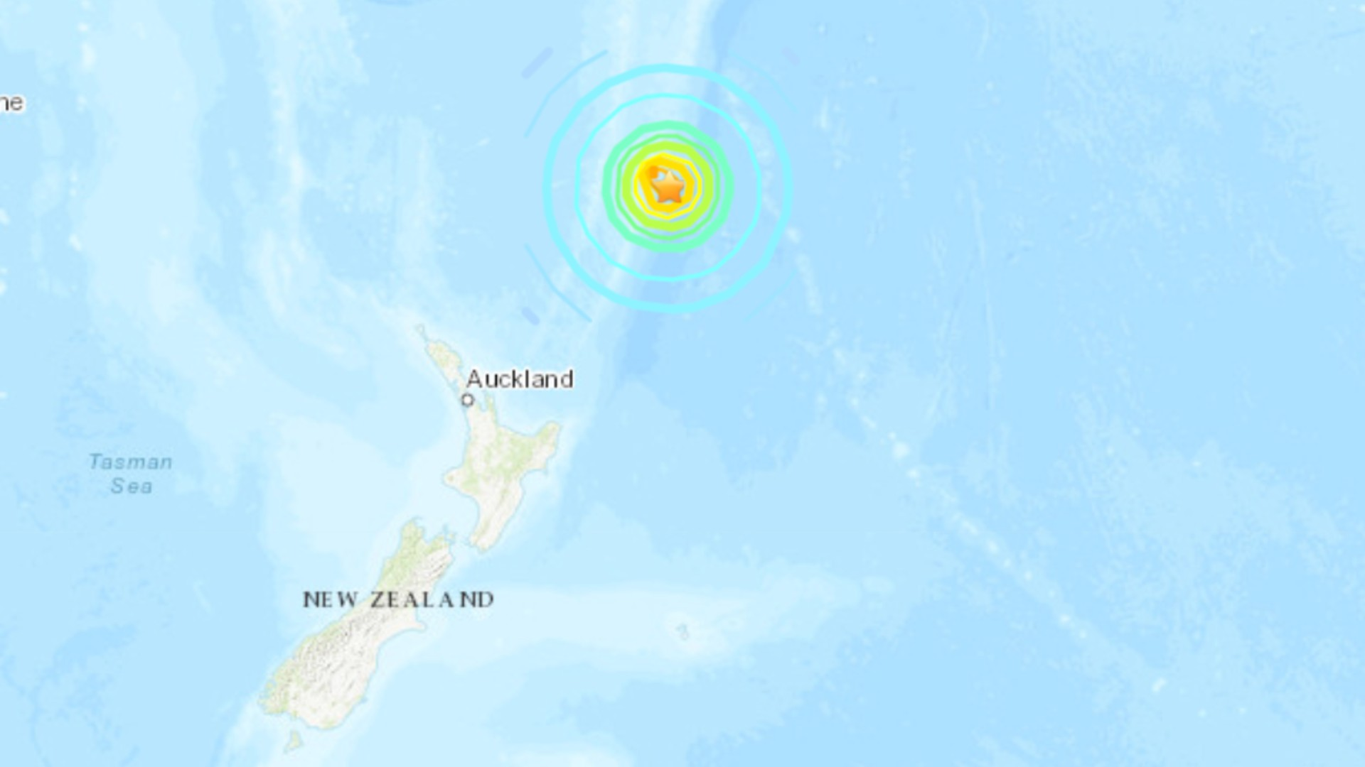 Multiple earthquakes struck New Zealand, including one with a magnitude of 8.1. (U.S. Geological Survey)