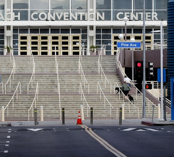 The Long Beach Convention Center is seen in an undated photo. (Luis Sinco / Los Angeles Times)