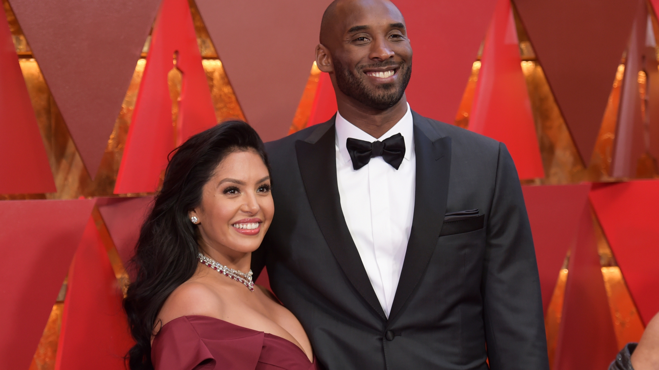 In this March 4, 2018, file photo, Vanessa Bryant, left, and Kobe Bryant arrive at the Oscars in Los Angeles. (Richard Shotwell/Invision/AP, File)