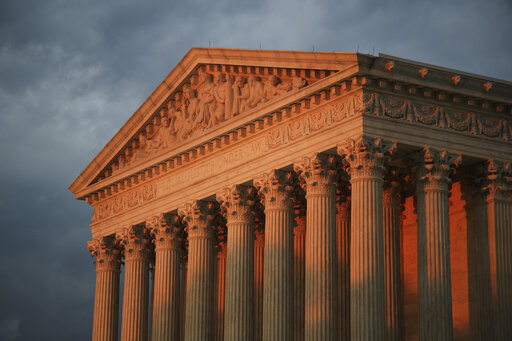 The U.S. Supreme Court is seen at sunset in Washington on Oct. 4, 2018. (Manuel Balce Ceneta / Associated Press)