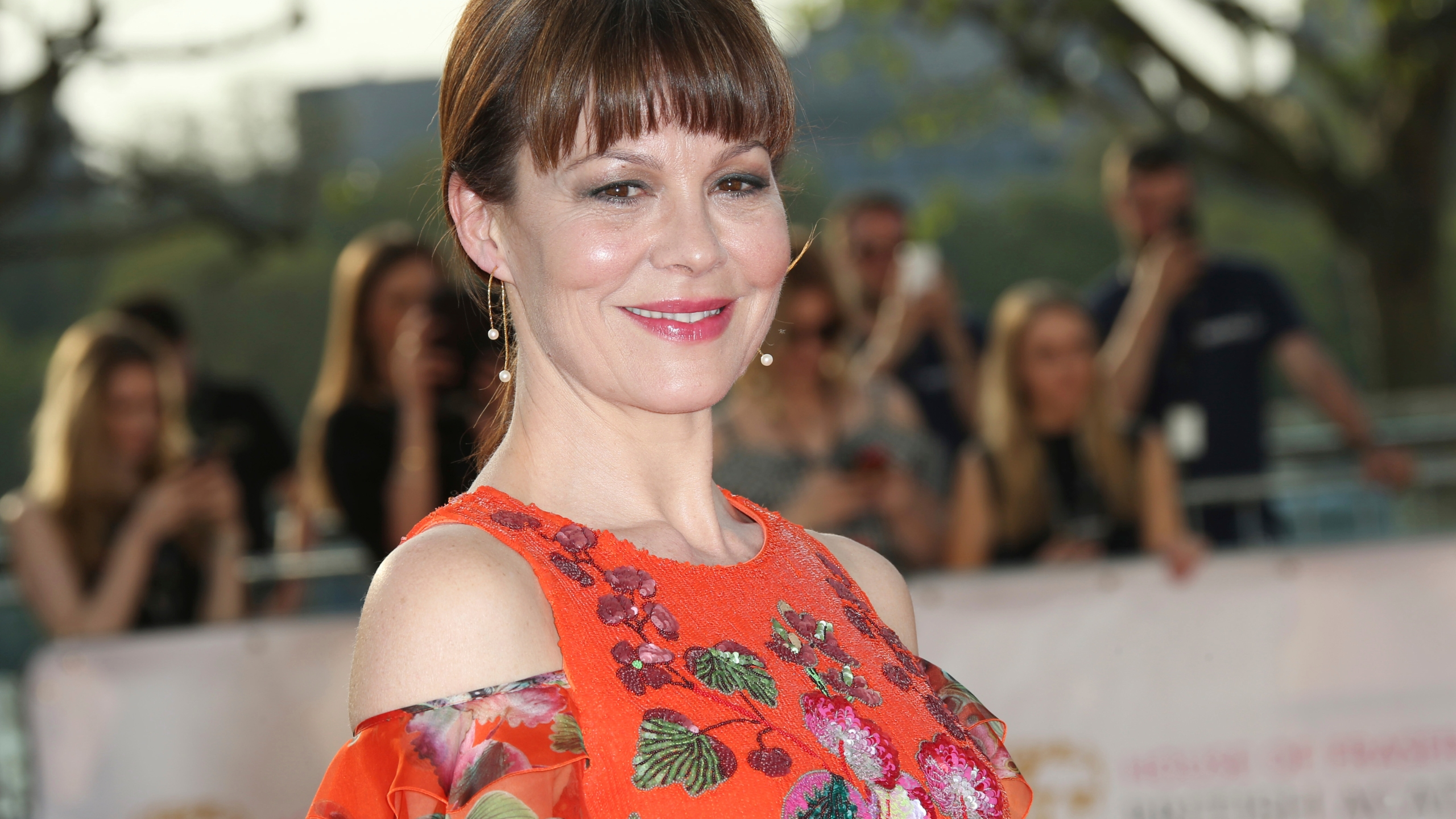 "Actress Helen McCrory arrives at the British Academy Television Awards in London on May 8, 2016. McCrory, who starred in the television show ""Peaky Blinders"" and the ""Harry Potter"" movies, has died. She was 52 and had been suffering from cancer. Her husband, actor Damian Lewis, said Friday that McCrory died ""peacefully at home"" after a ""heroic battle with cancer."" (Photo by Joel Ryan/Invision/AP, File)"