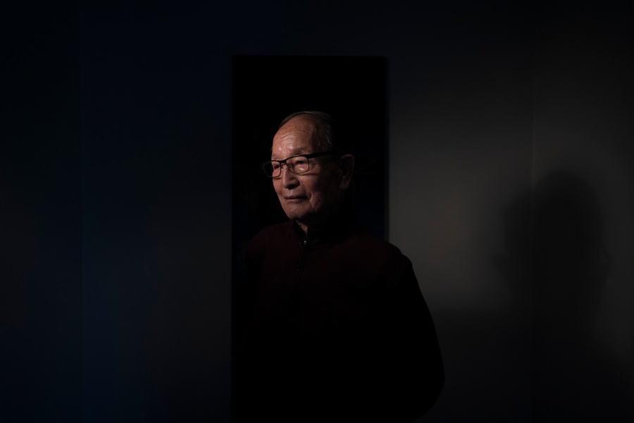 """Harold Choo, an 85-year-old immigrant from South Korea who works as an apartment building manager, pauses for photos in the Koreatown neighborhood of Los Angeles on March 24, 2021. Although he has never been a hate crime victim, Choo said he is in constant fear amid the surge of anti-Asian violence. """"When I go for a walk these days, I'm hyperaware of my surroundings,"""" said Choo, knowing he would be an easy target because of his age. """"Even a light shove can easily hurt me."""" (Jae C. Hong / Associated Press)"""