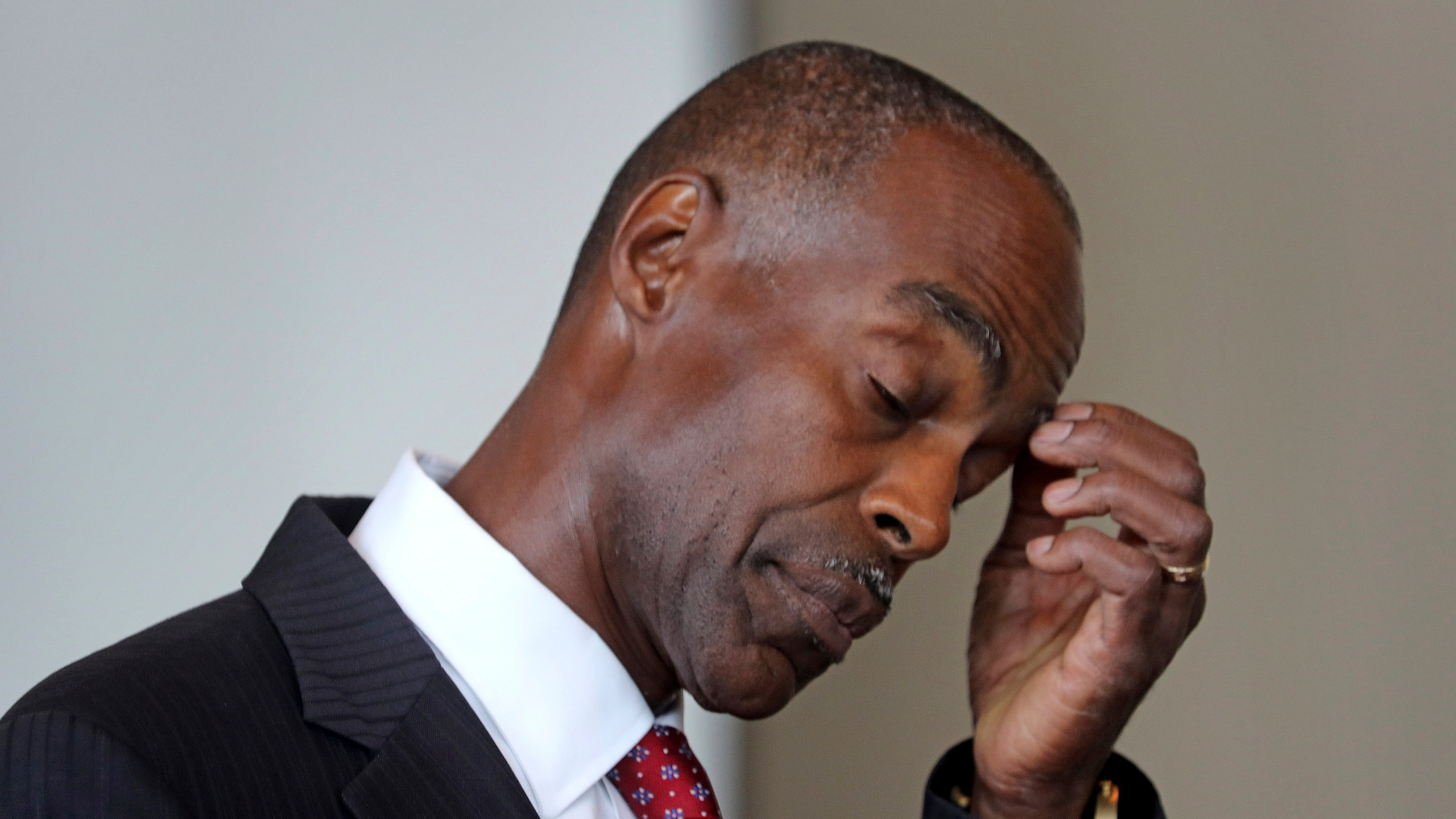 In this Thursday, Aug. 15, 2019, file photo, Broward Schools Superintendent Robert Runcie addresses the Marjory Stoneman Douglas Public Safety Commission, in Sunrise, Fla. Runcie was arrested Wednesday, April 21, 2021, by the Florida Department of Law Enforcement. An indictment says Runcie lied while testifying three weeks ago before a grand jury investigating circumstances surrounding the Feb. 14, 2018, shooting at Marjory Stoneman Douglas High School. (Susan Stocker/South Florida Sun-Sentinel via AP, File)