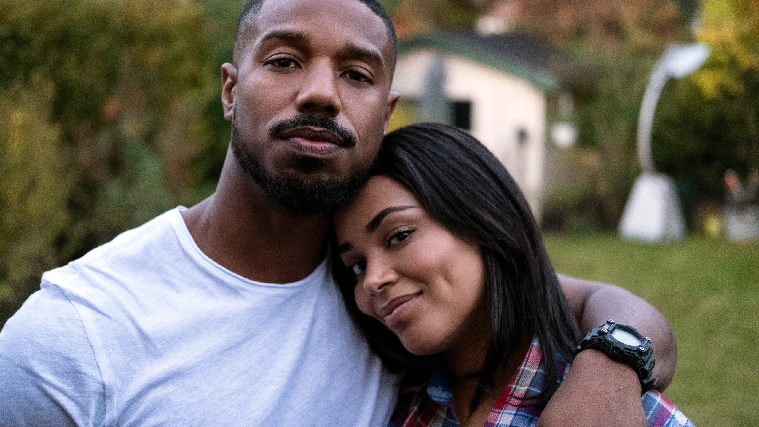 "This image released by Amazon shows Michael B. Jordan, left, with Lauren London in ""Tom Clancy's Without Remorse,"" streaming Friday on Amazon. (Nadja Klier/Amazon via AP)"