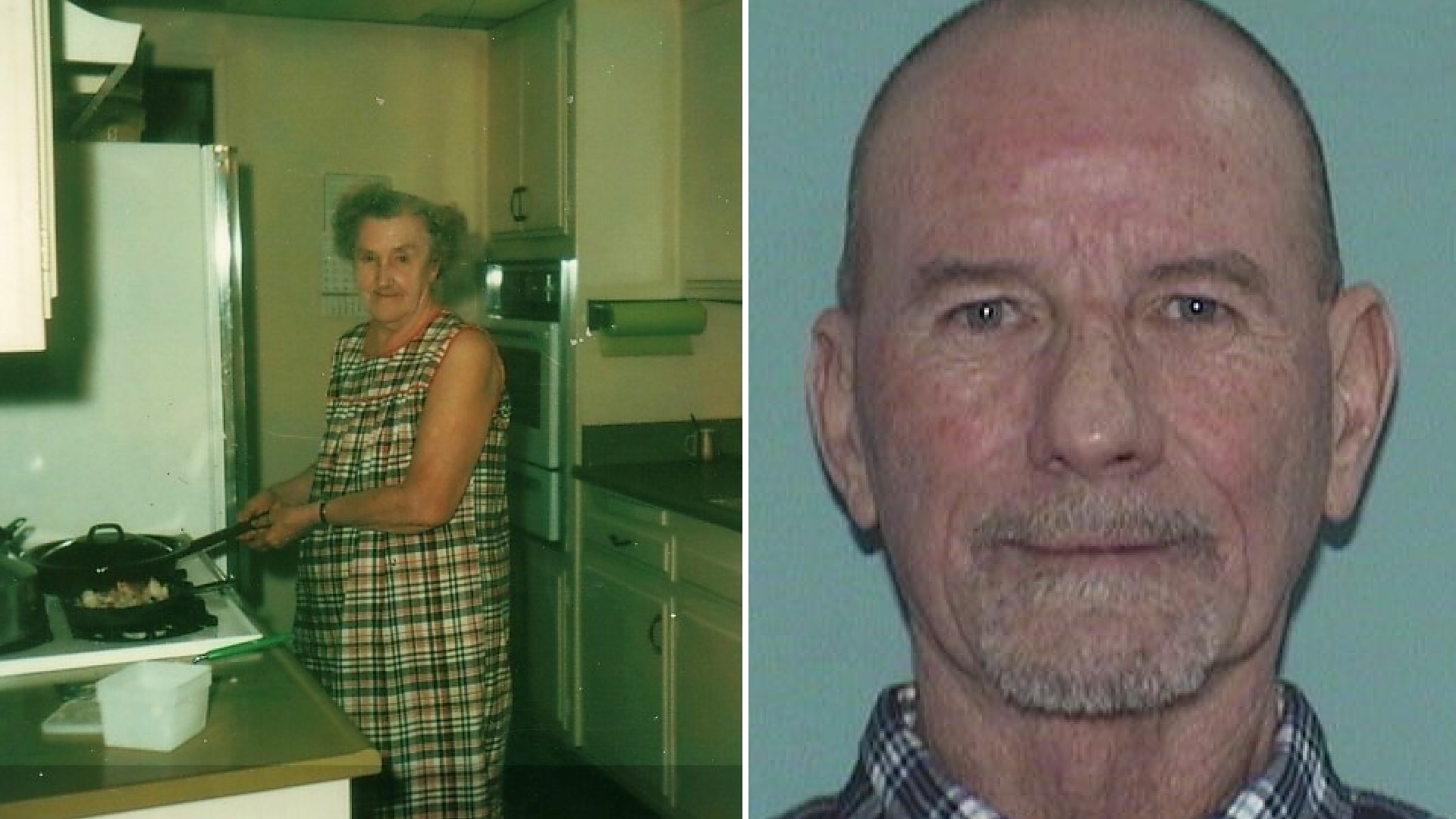 Viola Hagenkord and the man arrested in her killing, 64-year-old Andre William Lepere, are seen in undated photos provided by the Anaheim Police Department on April 30, 2021.