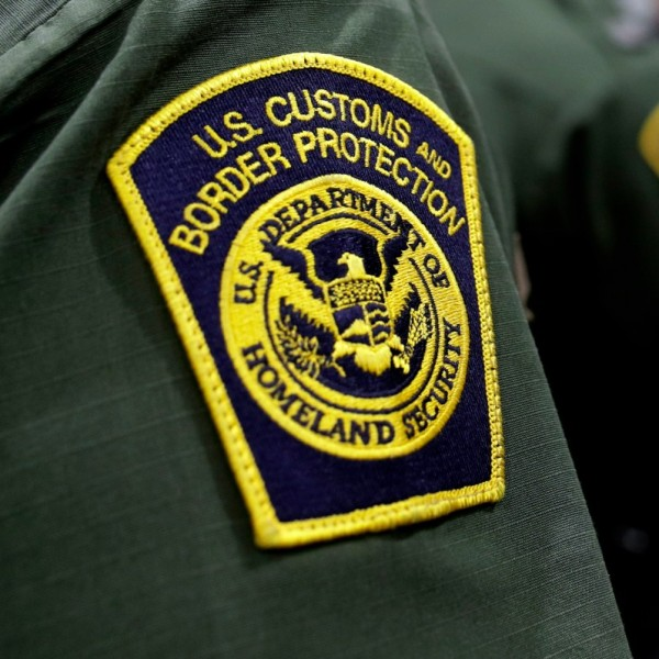 This file photo shows a U.S. Customs and Border Protection patch on a uniform in Donna, Texas, on May 2, 2019. (Eric Gay / Associated Press)