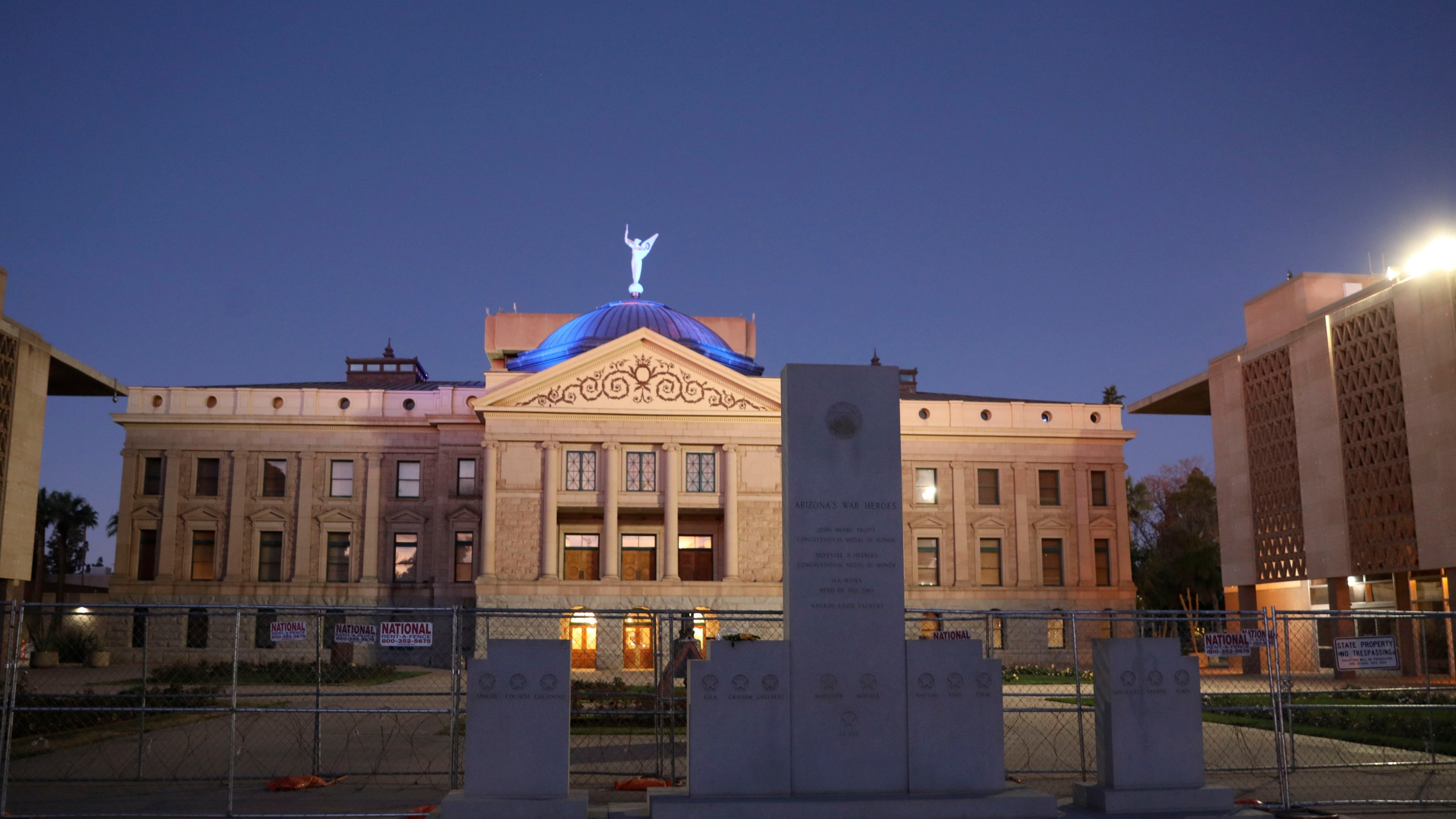 View of the Arizona State Capitol building on January 17, 2021 in Phoenix, Arizona. (Sandy Huffaker/Getty Images)