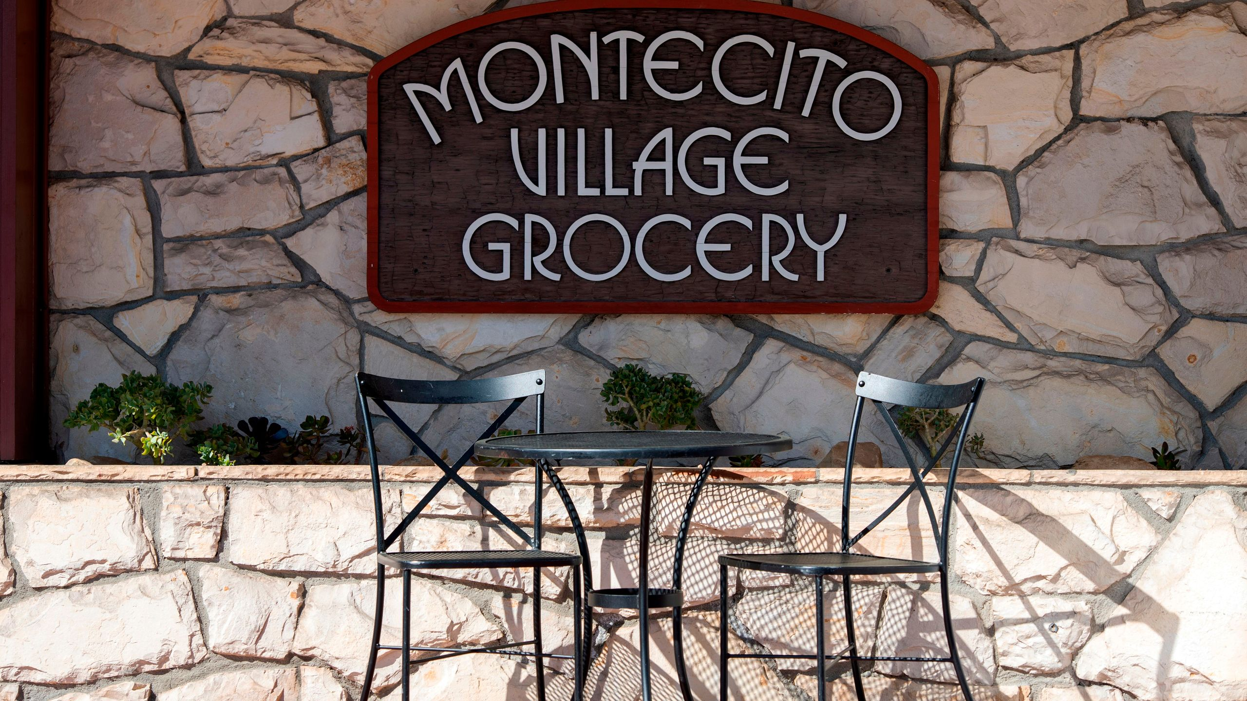 View of the Montecito Village Grocery in Montecito on March 6, 2021. (VALERIE MACON/AFP via Getty Images)