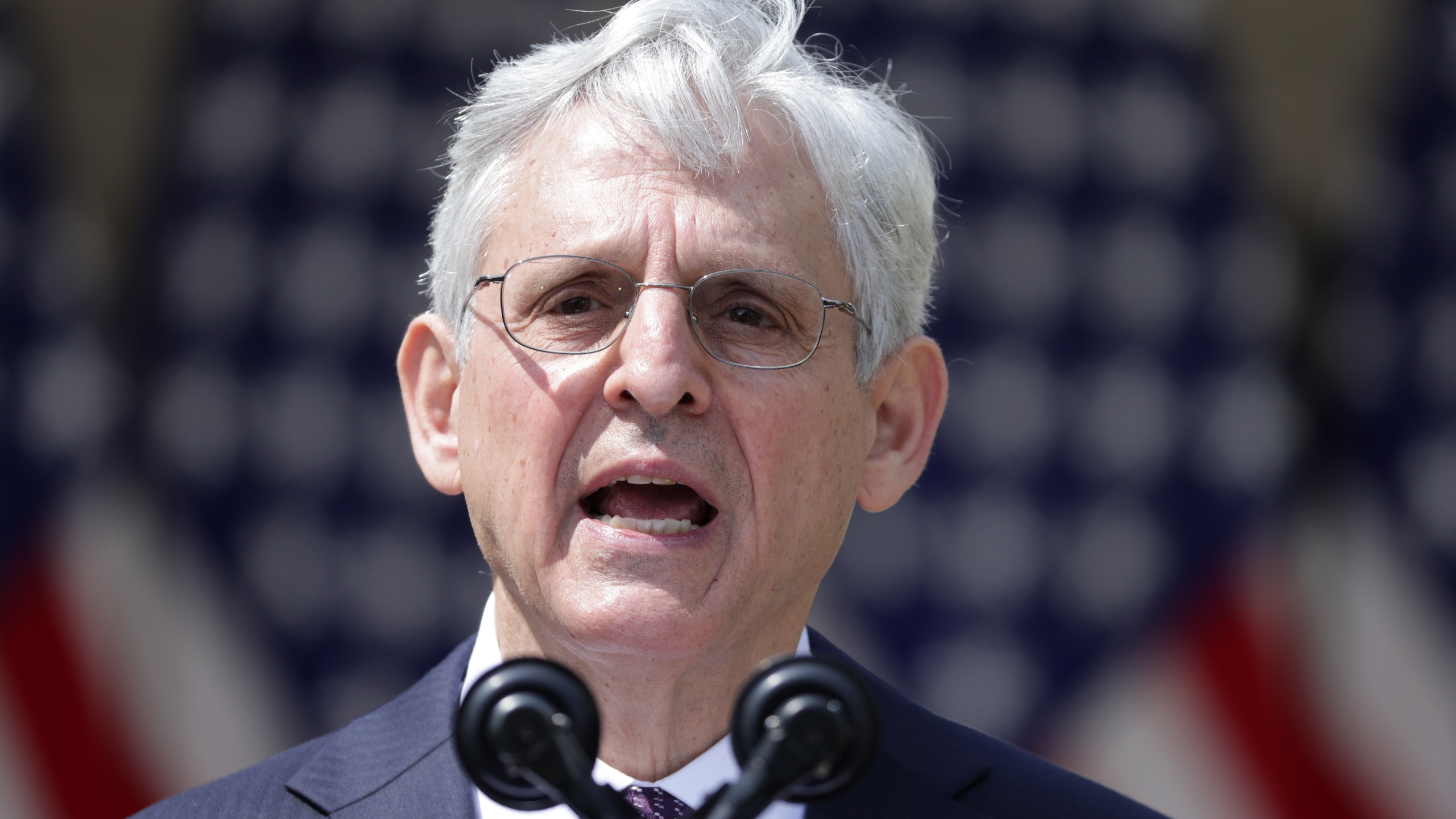 U.S. Attorney General Merrick Garland speaks during an event on gun control in the Rose Garden at the White House on April 8, 2021.A(lex Wong/Getty Images)
