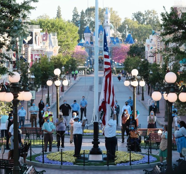 Disneyland prepares Friday morning to receive guests for the first time in more than a year.(Robert Gauthier / Los Angeles Times)