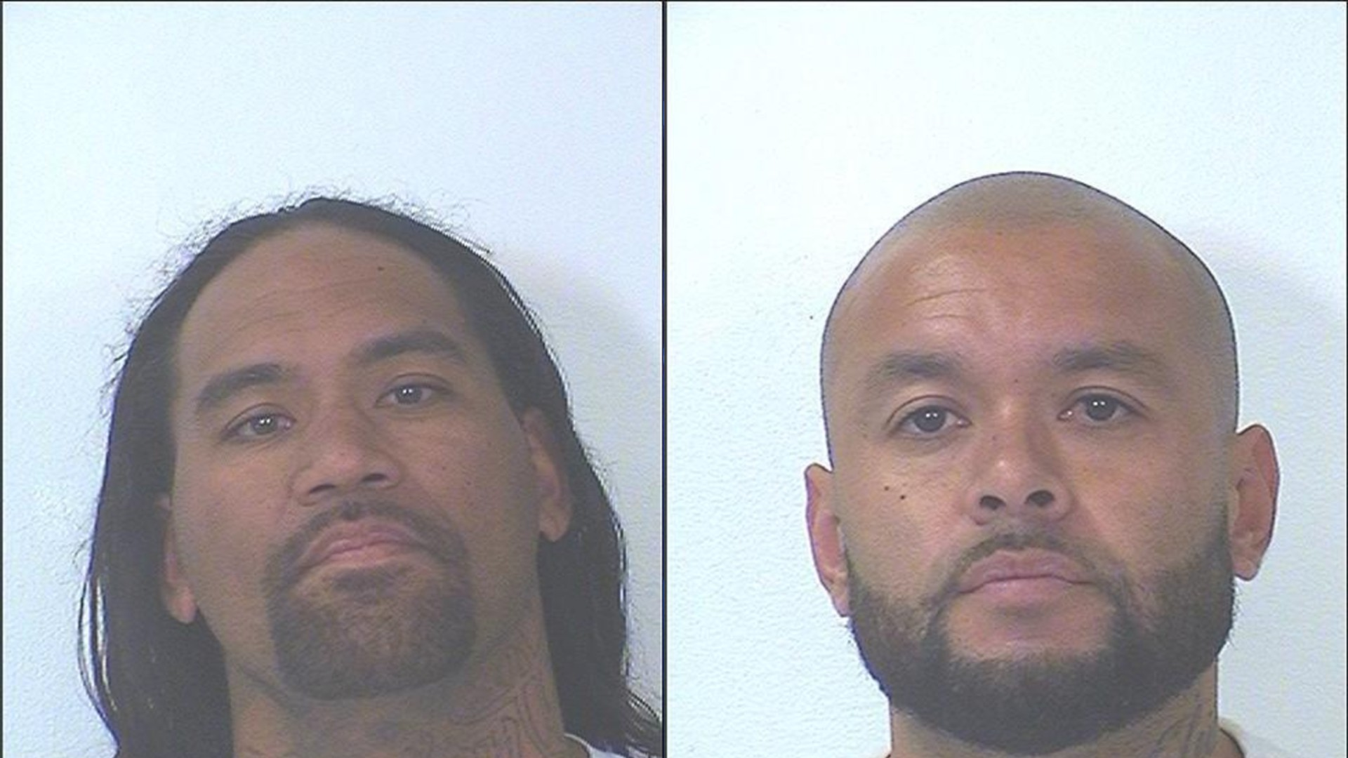 Myles S. Asuega (left) was found dead in his prison cell Friday. Roberto Kaimimoku, 33, was Asuega's cellmate and is the suspect. (California Department of Corrections and Rehabilitation)