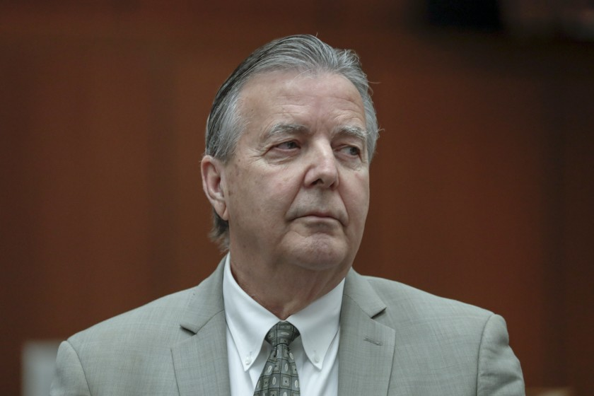 Palmdale Mayor Jim Ledford is seen during a court appearance in March 2018. (Irfan Khan / Los Angeles Times)