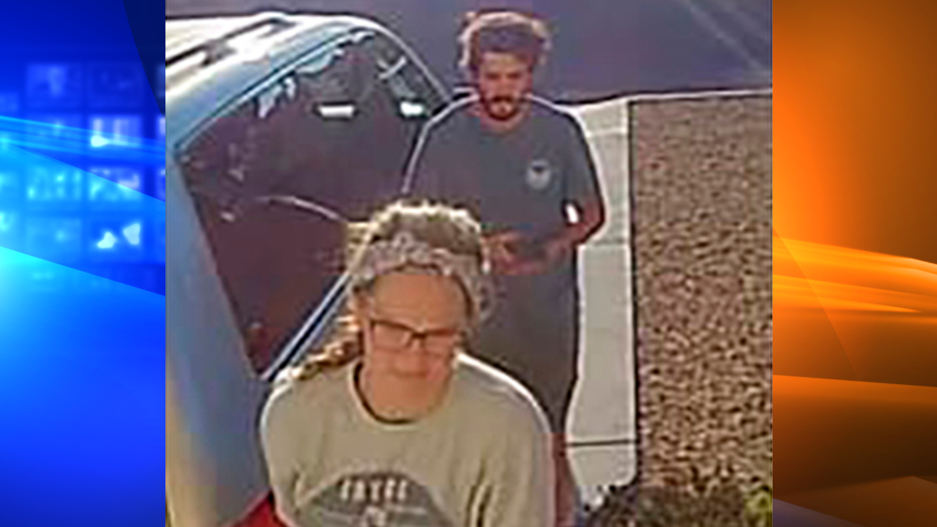 This undated image released by the Inyo County Sheriff's Office shows campers Alexander Lofgren, top, and Emily Henkel.