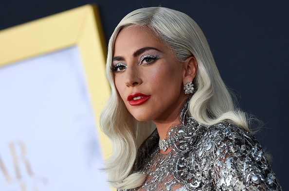 """Singer/actress Lady Gaga attends the premiere of """"A star is born"""" at the Shrine Auditorium in Los Angeles, California on September 24, 2018. (VALERIE MACON/AFP via Getty Images)"""